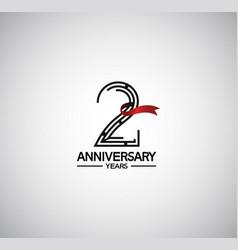 2 years anniversary logotype flat design vector