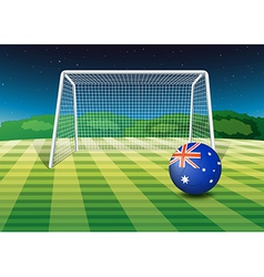 A soccer ball from Australia vector image