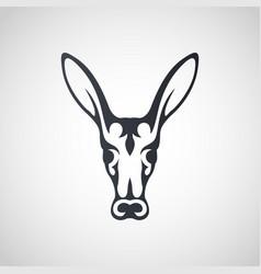 Aardvark logo icon design vector