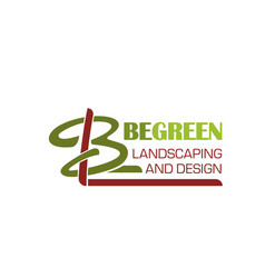 B letter icon for landscape design vector