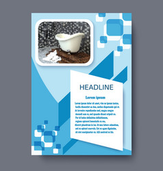 Banner bath design template design vector