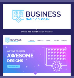 Beautiful business concept brand name event vector