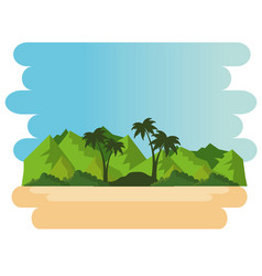 beautiful landscape summer time on the beach vector image