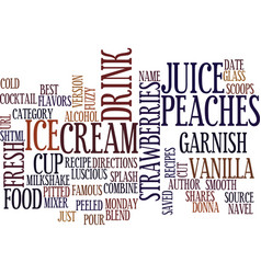 Best recipes fuzzy navel milkshake text vector