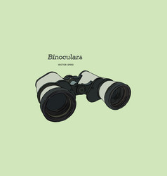 binocular engraved hand drawn vector image