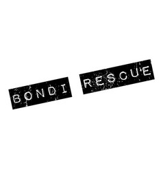 Bondi rescue rubber stamp vector