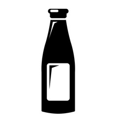 Bottle cream icon simple style vector