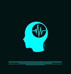 Brain health logo designs concept head health vector