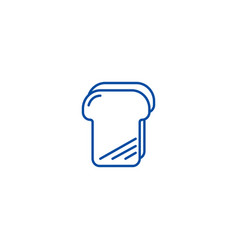 bread toast line icon concept bread toast flat vector image
