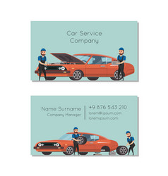 Car service company business card vector