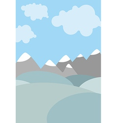 Cartoon natural landscape Sky with clouds vector image vector image