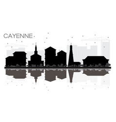 Cayenne french guiana city skyline black and vector