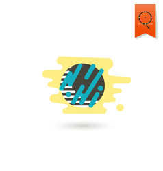chocolate cookie with cream filling vector image