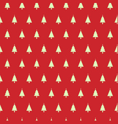 Christmas seamless pattern with christmas trees on vector