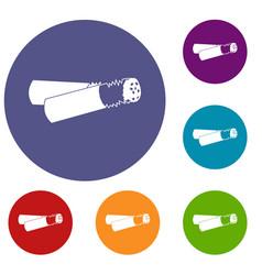 Cigarette butt icons set vector
