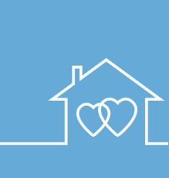 concept of lovers and your own home vector image