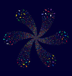 Confetti stars cycle flower cluster vector