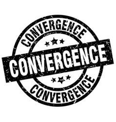 Convergence round grunge black stamp vector