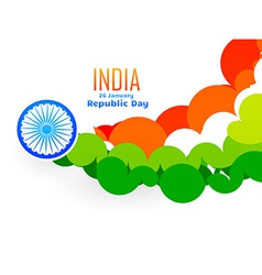 creative indian flag design made with circles in vector image