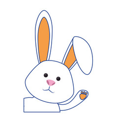 Cute bunny icon vector