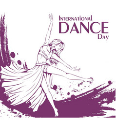 Dance day contemporary dance vector