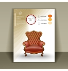 Design booklet with a luxurious chair for vector