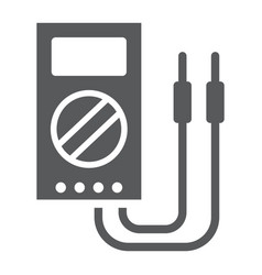 digital multimeter glyph icon tool and instrument vector image