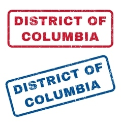 District Of Columbia Rubber Stamps vector