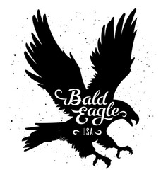 eagle silhouette 002 vector image