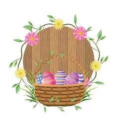 Easter eggs cartoon vector