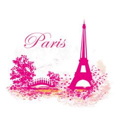 Eiffel tower abstract card vector