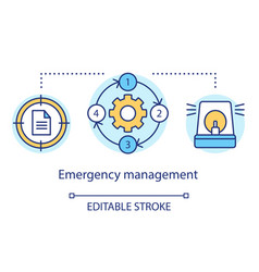 Emergency management concept icon quick response vector