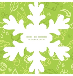 Environmental Christmas snowflake silhouette vector