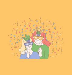 Festive masquerade creative celebration concept vector