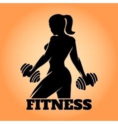 Fitness Woman Emblem vector