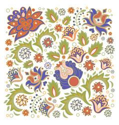 Floral ornament oriental decorative folk ethnic vector