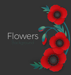 flowers background with full blown and still vector image