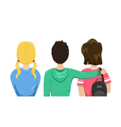 group friends is back students are friends vector image