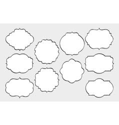 Hand Drawn Frames Set vector