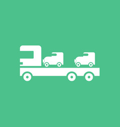 Icon car carrier truck deliver vector