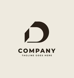 initial d monogram logo design vector image