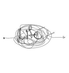 insane random line vector image