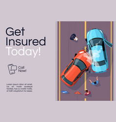 Insurance services banner template vector