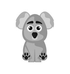 isolated cute koala on white background vector image