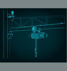 jib crane close-up vector image