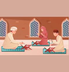 Koran flat vector