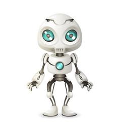 little cute robot mascot innovation scifi vector image