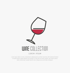 Logotype of wine and wine making vector