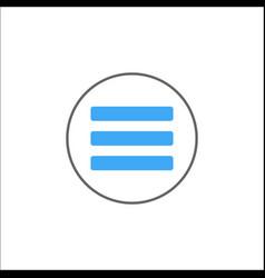 menu solid icon mobile sign and hamburger vector image