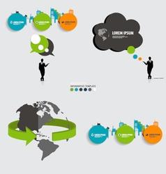 Modern infographics template style Bubble speech vector